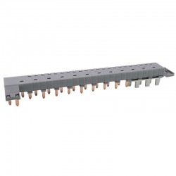 Legrand - Peigne d'alimentation tétrapolaire tête de groupe HX³ horizontal optimisé - longueur 12 modules - Réf : 405201