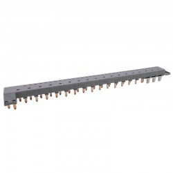 Legrand - Peigne d'alimentation tétrapolaire tête de groupe HX³ horizontal optimisé - longueur 18 modules - Réf : 405202