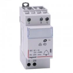 Legrand - Transformateur Sonnerie 230 / 12-8 V Modulaire - Réf : 413091