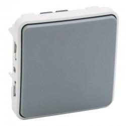 Legrand - Interrupteur ou va-et-vient Plexo composable IP55 10AX 250V - gris - Réf : 069511