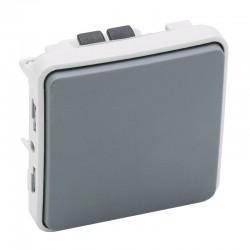 Legrand - Poussoir NO Plexo composable IP55 10A - gris - Réf : 069540