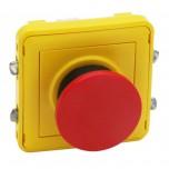 Legrand Plexo - Poussoir à impulsion d'arrêt - Composable gris/jaune - Réf :069547