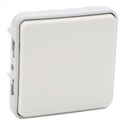 Legrand - Interrupteur ou va-et-vient Plexo composable IP55 10AX 250V - blanc - Réf : 069611