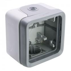 Legrand - Boîtier à embouts 1 poste Plexo composable IP55 - gris - Réf : 069651