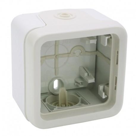 Legrand - Boîtier à embouts 1 poste Plexo composable IP55 - blanc - Réf : 069689