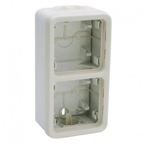 Legrand - Boîtier à embouts 2 postes verticaux Plexo composable IP55 - blanc - Réf : 069691