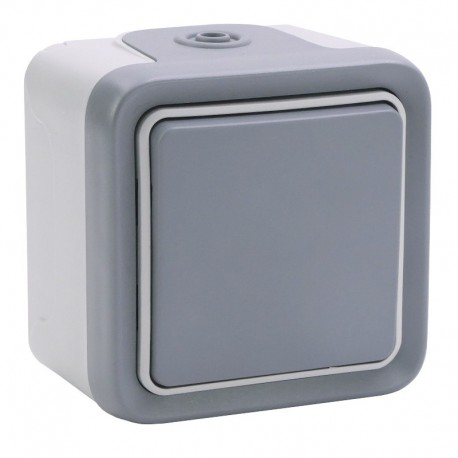 Legrand - Interrupteur ou va-et-vient Plexo complet IP55 saillie 10AX 250V - gris - Réf : 069711