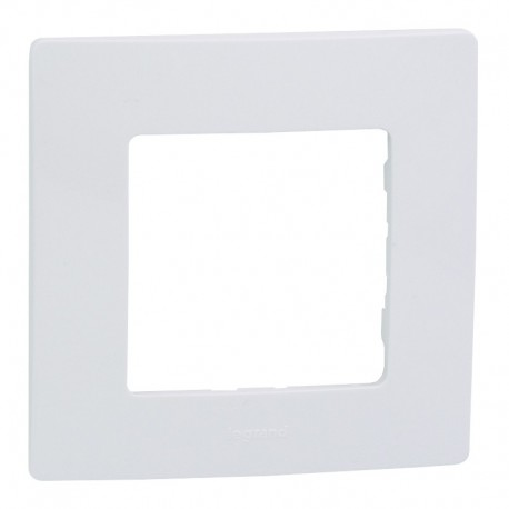 Legrand - Plaque Niloé 1 poste - Blanc Pur - Réf : 665001