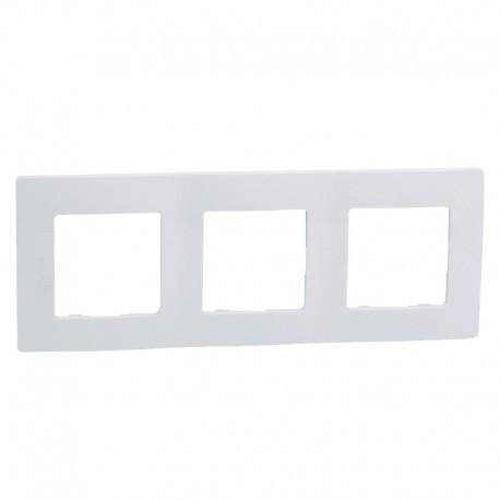 Legrand - Plaque Niloé 3 postes - Blanc Pur - Réf : 665003