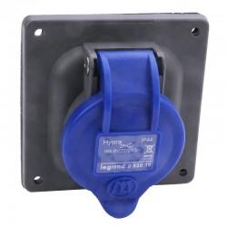 Legrand - Prise à entraxes unifiés Hypra IP44 16A - 200V~ à 250V~ - 2P+T - plastique - Réf : 052018