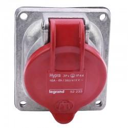 Legrand - Prise fixe Hypra IP44 16A - 380V~ à 415V~ - 3P+T - métal - Réf : 052233