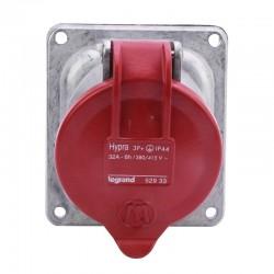 Legrand - Prise fixe Hypra IP44 32A - 380V~ à 415V~ - 3P+T - métal - Réf : 052933