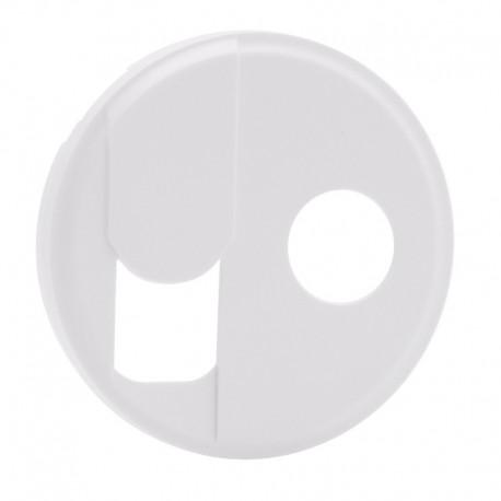 Legrand Céliane - Enjoliveur - Prise Téléphone RJ 45 + TV Simple - Blanc - Réf : 068239
