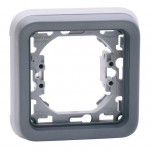 Legrand - Support plaque 1 poste Plexo composable IP55 - gris - Réf : 069681