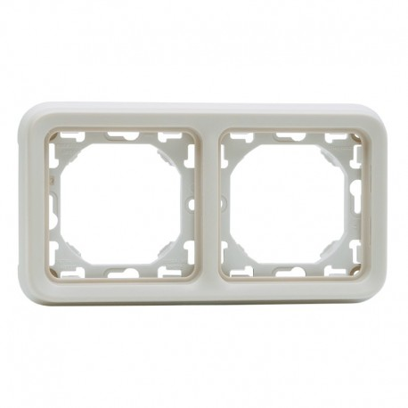 Legrand - Support plaque 2 postes horizontaux Plexo composable IP55 - blanc - Réf : 069694