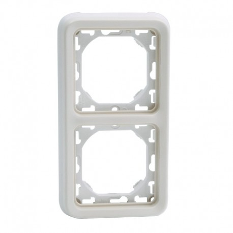 Legrand - Support plaque 2 postes verticaux Plexo composable IP55 - blanc - Réf : 69696