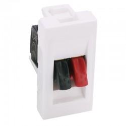 Legrand Mosaic - Prise haut-parleur - bornier 4mm² - 1 module - blanc - Réf : 078750