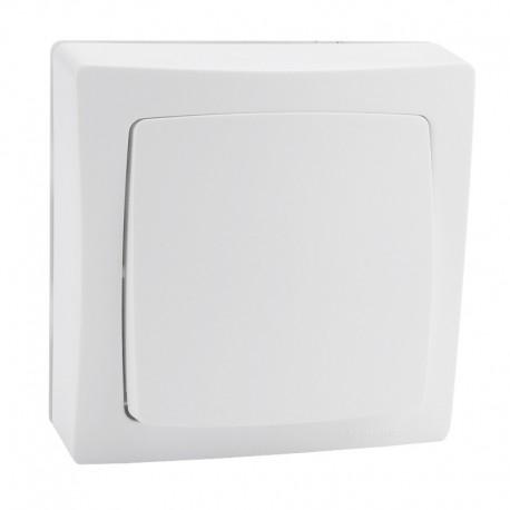 Legrand - Poussoir 6A Appareillage saillie complet - blanc - Réf: 086006
