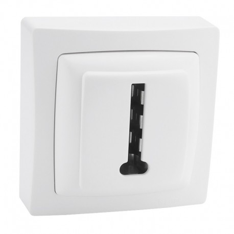 Legrand - Prise téléphone 8 contacts appareillage saillie complet - blanc - Réf: 086038