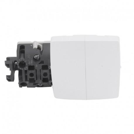 Legrand - Double va-et-vient appareillage saillie composable - blanc - Réf: 086120
