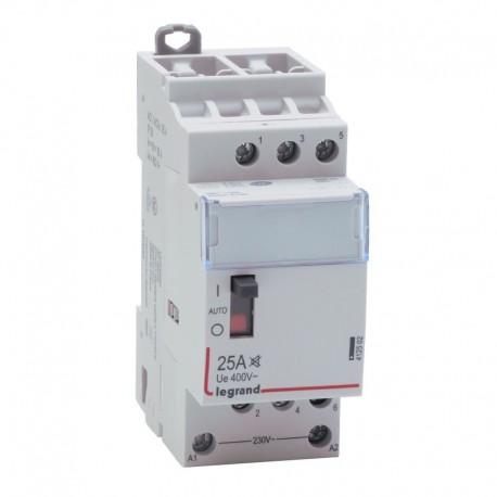 Legrand - Contacteur domestique silencieux - 230 V~ - 3P - 400 V~/25 A - 3F - Réf : 412502