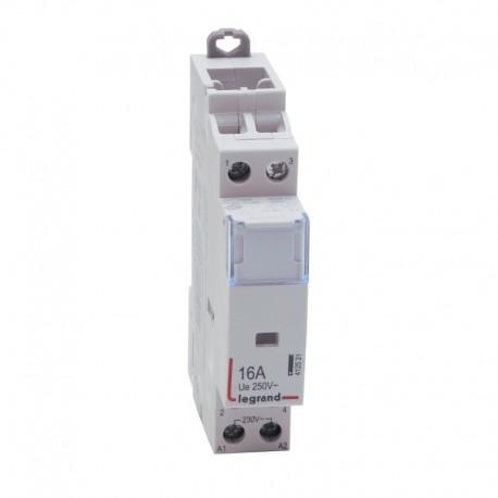 Legrand - Contacteur de puissance bobine 230 V~ - 2P - 250 V~ - 16 A - O + F - 1 module - Réf : 412521