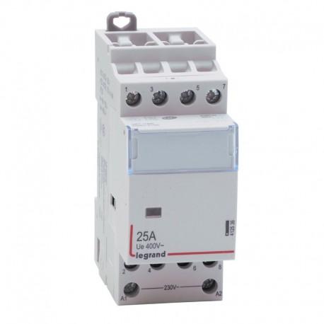 Legrand - Contacteur de puissance bobine 230 V~ - 4P - 400 V~ - 25 A - 4 O - 2 modules - Réf : 412536