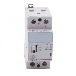 Legrand - Contacteur de puissance CX³ bobine 230V~ - 2P 250V~ - 40A - contact 2F - 2 modules - Réf : 412545