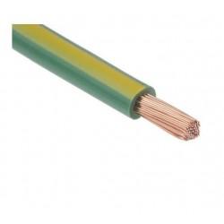 Fil H07 V-K 1,5 mm² - Couronne 100 m - Vert/Jaune - Réf : 014105