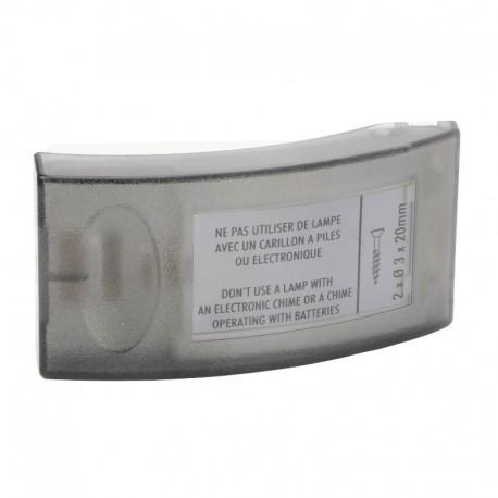 Legrand - Bouton poussoir Salsa - porte-étiquette - IP 30 - IK 06 - Réf : 041645