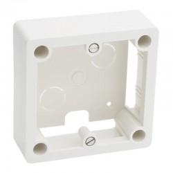 Legrand - Cadre saillie - 1 poste - pour socle et sortie de câbles - 100x100x36 mm - Réf : 055849