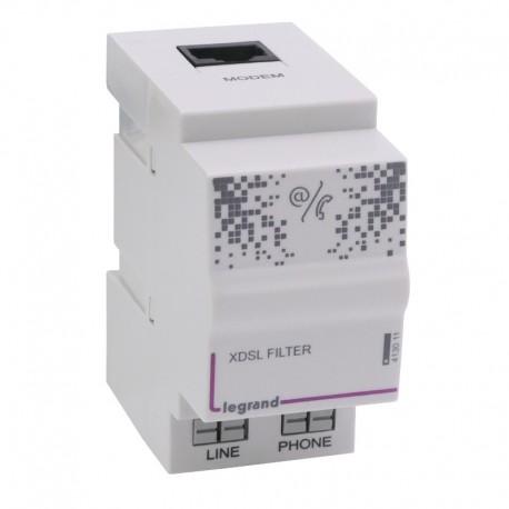 Legrand - Filtre ADSL - pour accès téléphone et ADSL dans coffret Optimum - 2 modules - Ref : 413011