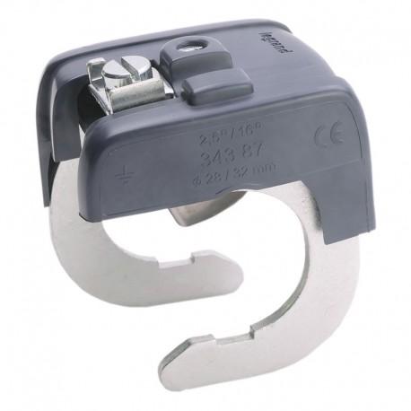 Legrand - Connecteur de liaison équipotentielle pour canalisation Ø28mm mini et Ø32mm maxi - Ré : 034387