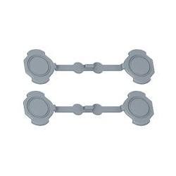 Legrand - Jeu de 4 Bouchons Prog Plexo - pour obturation des trous de fixation boîtiers - Réf : 069598