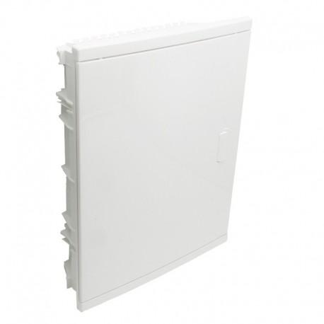 Legrand - Coffret encastré - porte isolante galbée - 2 rangée - 24+4 mod - blanc RAL 9010 - Réf : 001512