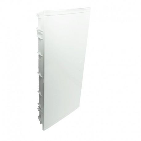 Legrand - Coffret encastré - porte isolante galbée - 4 rangée - 48+8 mod - blanc RAL 9010 - Réf : 001514