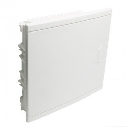 Legrand - Coffret encastré - porte isolante galbée - 1 rangée - 12+2 mod - blanc RAL 9010 - Réf: 001511