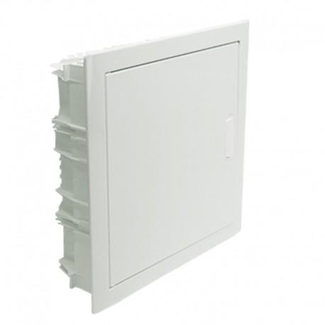 Legrand - Coffret encastré - porte métal extra plate - 1 rangée - 12+2 mod-blanc RAL 9010 - Réf : 001531