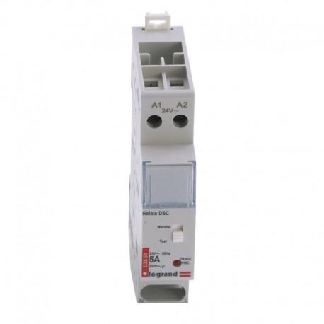 Legrand - Relais pour DSC gaz - 24 V~ - 50 Hz - 1 module - Réf : 003859