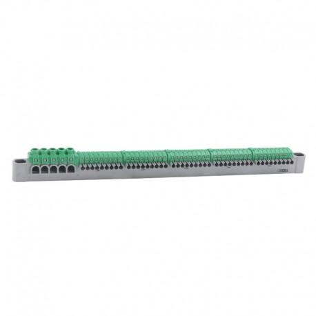 Legrand - Bornier de répartition IP 2X terre 5 connexions 6 À 25 MM² vert L332 MM - Réf: 405057
