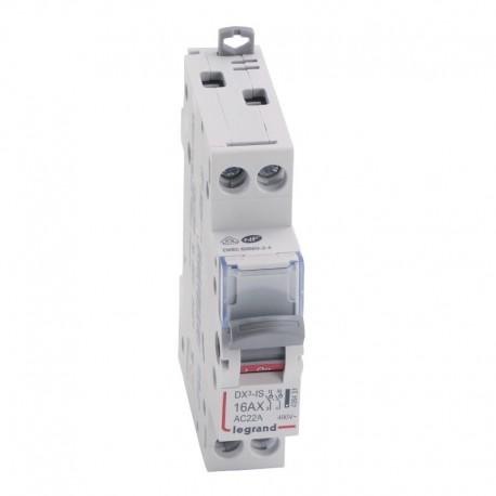 Legrand - Interrupteur-sectionneur DX³-IS - 2P 400 V~ - 16 A - 1 module - Réf : 406431