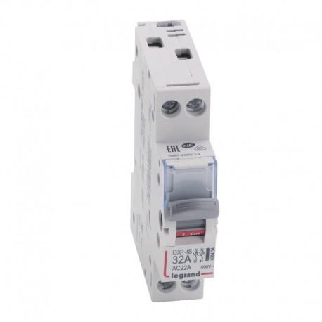 Legrand - Interrupteur-sectionneur DX³-IS - 2P 400 V~ - 32 A - 1 module - Réf : 406434