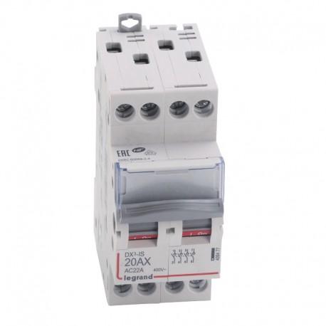Legrand - Interrupteur-sectionneur DX³-IS - 4P 400 V~ - 20 A - 2 modules - Réf : 406477