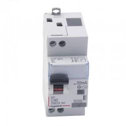 Legrand - Disjoncteur différentiel DX³4500 - vis/vis - U+N 230V~ - 40A typeAC 30mA - courbe C - 2 modules - Réf : 410709