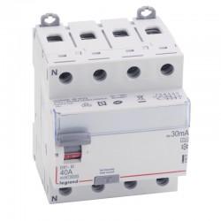 Legrand - Inter diff DX³-ID - vis/vis - 4P - 400V~ - 40A - type A - 30mA - départ bas - 4M - Réf : 411675