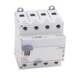 Legrand - Inter diff DX³-ID - vis/vis - 4P - 400V~ - 40A - type A - 300mA - départ bas - 4M - Réf : 411685