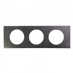 Legrand - Plaque Céliane - Matières - 3 postes - Black Nickel - Réf : 069033