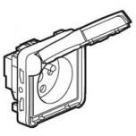 Legrand - Prise 2P+T à détrompage Prog Plexo composable gris - 16 A - 250 V - Réf : 069553