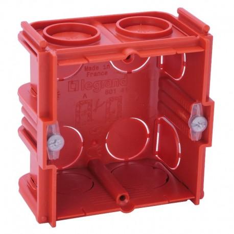 Legrand - Boîte monoposte Batibox - maçonnerie - carrée associable - prof. 30 - Réf : 080131