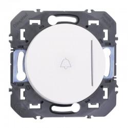 Legrand - Poussoir simple avec voyant lumineux et marquage sonnette dooxie 6A 250V~ finition blanc - Réf : 600018